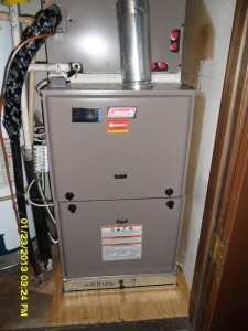 Our Installation of a Coleman Gas Furnace and Evaporator Coil