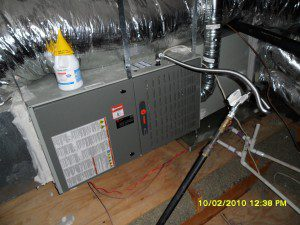 Our attic installation of a Trane Furnace and Evaporator Coil
