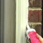 Caulking around doors and windows.