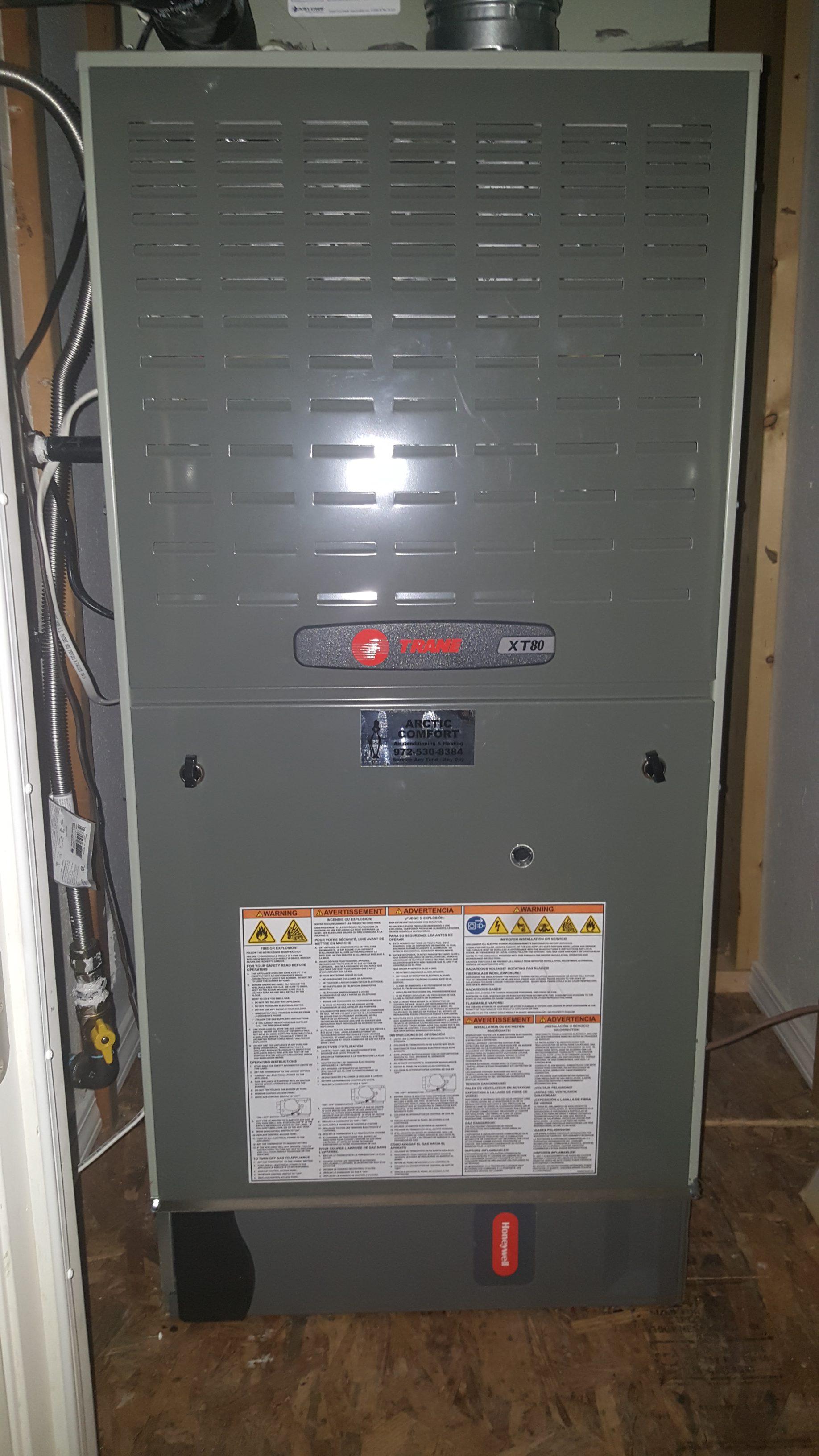 Trane Xt80 Gas Furn Honeywell Air Filter Syst Arctic