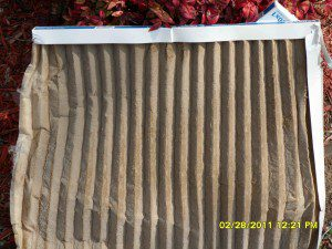 Completely Clogged Air Filter will keep your air conditioning and heating system from cooling or heating.