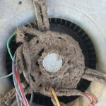 Dirty Blower Motor for Air Conditioning and Heating System