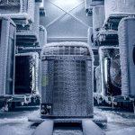 Freezing rain or ice on heat pump condensing unit